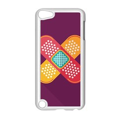 Plaster Scratch Sore Polka Line Purple Yellow Apple Ipod Touch 5 Case (white) by Mariart