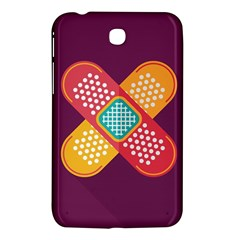 Plaster Scratch Sore Polka Line Purple Yellow Samsung Galaxy Tab 3 (7 ) P3200 Hardshell Case  by Mariart