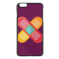 Plaster Scratch Sore Polka Line Purple Yellow Apple Iphone 6 Plus/6s Plus Black Enamel Case by Mariart