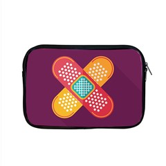Plaster Scratch Sore Polka Line Purple Yellow Apple Macbook Pro 15  Zipper Case