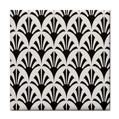 Parade Art Deco Style Neutral Vinyl Tile Coasters by Mariart