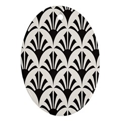 Parade Art Deco Style Neutral Vinyl Ornament (oval) by Mariart