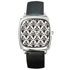 Parade Art Deco Style Neutral Vinyl Square Metal Watch by Mariart