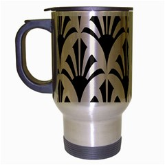 Parade Art Deco Style Neutral Vinyl Travel Mug (silver Gray) by Mariart