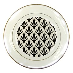 Parade Art Deco Style Neutral Vinyl Porcelain Plates by Mariart