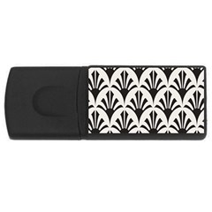Parade Art Deco Style Neutral Vinyl Usb Flash Drive Rectangular (4 Gb) by Mariart