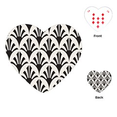 Parade Art Deco Style Neutral Vinyl Playing Cards (heart)  by Mariart