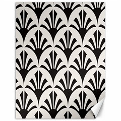 Parade Art Deco Style Neutral Vinyl Canvas 12  X 16   by Mariart