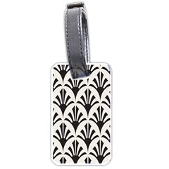 Parade Art Deco Style Neutral Vinyl Luggage Tags (one Side)  by Mariart