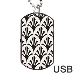 Parade Art Deco Style Neutral Vinyl Dog Tag Usb Flash (two Sides) by Mariart