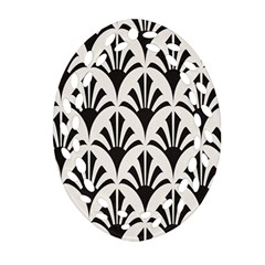 Parade Art Deco Style Neutral Vinyl Ornament (oval Filigree) by Mariart
