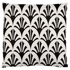 Parade Art Deco Style Neutral Vinyl Large Cushion Case (two Sides)