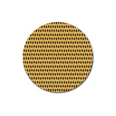 Points Cells Paint Texture Plaid Triangle Polka Magnet 3  (round) by Mariart