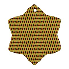 Points Cells Paint Texture Plaid Triangle Polka Ornament (snowflake) by Mariart