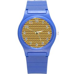 Points Cells Paint Texture Plaid Triangle Polka Round Plastic Sport Watch (s)