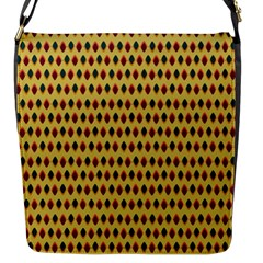 Points Cells Paint Texture Plaid Triangle Polka Flap Messenger Bag (s) by Mariart