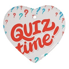 Question Mark Quiz Time Ornament (heart) by Mariart