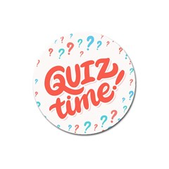 Question Mark Quiz Time Magnet 3  (round)