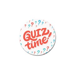 Question Mark Quiz Time Golf Ball Marker (4 Pack)