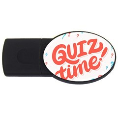 Question Mark Quiz Time Usb Flash Drive Oval (4 Gb) by Mariart