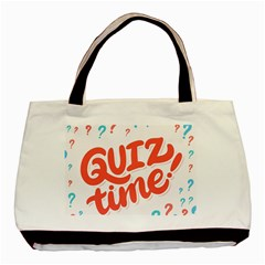 Question Mark Quiz Time Basic Tote Bag by Mariart