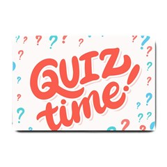 Question Mark Quiz Time Small Doormat  by Mariart