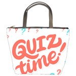 Question Mark Quiz Time Bucket Bags Front
