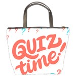 Question Mark Quiz Time Bucket Bags Back