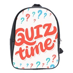 Question Mark Quiz Time School Bags(large)