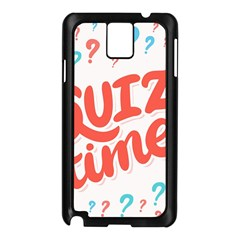 Question Mark Quiz Time Samsung Galaxy Note 3 N9005 Case (black) by Mariart