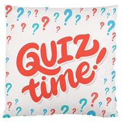 Question Mark Quiz Time Large Flano Cushion Case (one Side) by Mariart