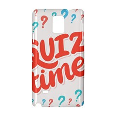 Question Mark Quiz Time Samsung Galaxy Note 4 Hardshell Case by Mariart