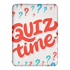 Question Mark Quiz Time Samsung Galaxy Tab 4 (10 1 ) Hardshell Case  by Mariart