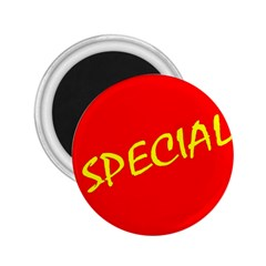 Special Sale Spot Red Yellow Polka 2 25  Magnets
