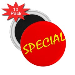 Special Sale Spot Red Yellow Polka 2 25  Magnets (10 Pack)  by Mariart