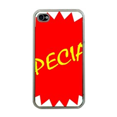 Special Sale Spot Red Yellow Polka Apple Iphone 4 Case (clear) by Mariart