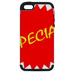 Special Sale Spot Red Yellow Polka Apple Iphone 5 Hardshell Case (pc+silicone) by Mariart