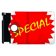 Special Sale Spot Red Yellow Polka Apple Ipad 2 Flip 360 Case by Mariart