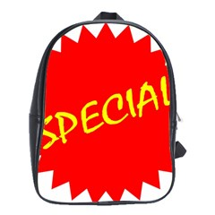Special Sale Spot Red Yellow Polka School Bags (xl)  by Mariart