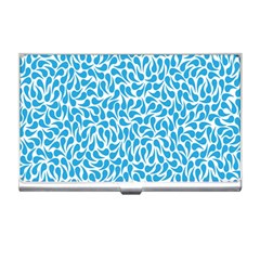 Pattern Blue Business Card Holders by Mariart