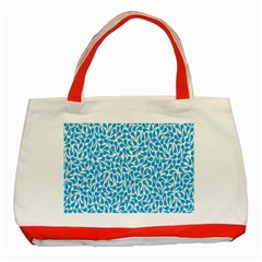 Pattern Blue Classic Tote Bag (red) by Mariart
