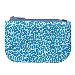Pattern Blue Large Coin Purse by Mariart