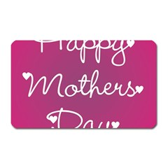 Valentine Happy Mothers Day Pink Heart Love Magnet (rectangular) by Mariart