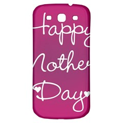 Valentine Happy Mothers Day Pink Heart Love Samsung Galaxy S3 S Iii Classic Hardshell Back Case by Mariart