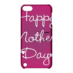 Valentine Happy Mothers Day Pink Heart Love Apple Ipod Touch 5 Hardshell Case With Stand by Mariart
