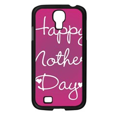 Valentine Happy Mothers Day Pink Heart Love Samsung Galaxy S4 I9500/ I9505 Case (black) by Mariart
