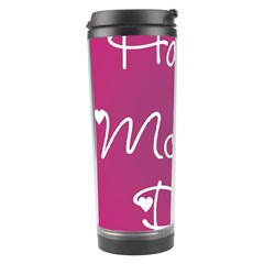 Valentine Happy Mothers Day Pink Heart Love Travel Tumbler by Mariart