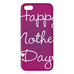Valentine Happy Mothers Day Pink Heart Love Iphone 5s/ Se Premium Hardshell Case by Mariart