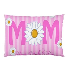 Valentine Happy Mothers Day Pink Heart Love Sunflower Flower Pillow Case