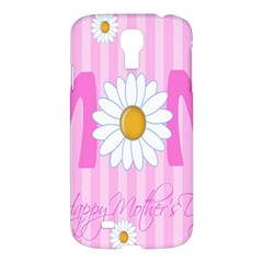 Valentine Happy Mothers Day Pink Heart Love Sunflower Flower Samsung Galaxy S4 I9500/i9505 Hardshell Case by Mariart